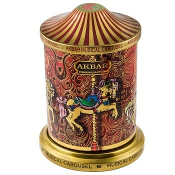 Akbar Music Carousel Orient Mystery Leaf Teas Blend with Flower Petals and Rose Oil 250g - buy, prices for Auchan - photo 1
