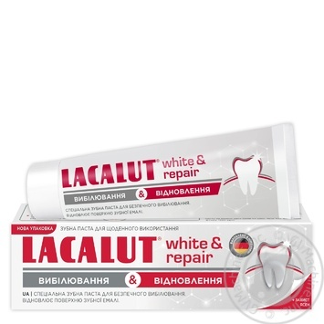 Lacalut White & Repair Toothpaste 75ml - buy, prices for Novus - image 1