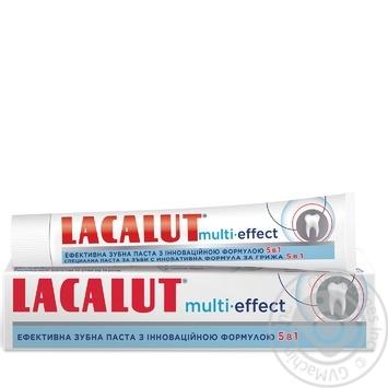 Зубная паста Лакалут Мульти-эффект 75мл - купить, цены на МегаМаркет - фото 1