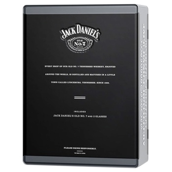 Jack Daniel`s Old No.7 Whiskey 40% 0,7l +  2 Glass Gift Set - buy, prices for Novus - image 2