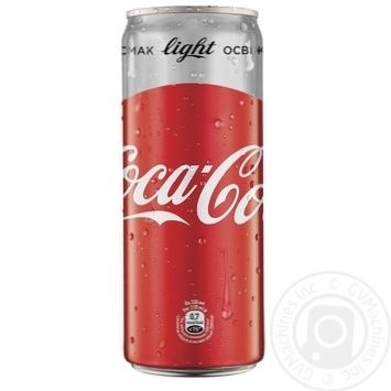 Напиток Coca-Cola Light сильногазтрованный 0,33л - купить, цены на Novus - фото 1