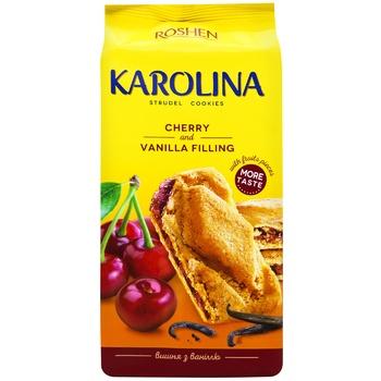 Печиво Roshen Karolina з вишнево-ванільною начинкою 168г
