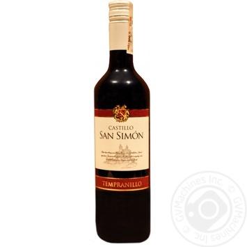 Вино Castillo San Simon Tempranillo 12.5% 750мл