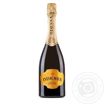 Вино игристое Odessa полусладкое мускатное белое 12,5% 0,75л