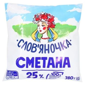 Sour cream Slovyanochka 25% 405g sachet Ukraine - buy, prices for Furshet - image 1