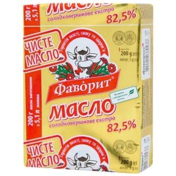 Масло Фаворит Экстра сладкосливочное 82.5% 200г