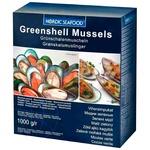 Nordic Seafood Frozen in Shells Halfs Greenshell Mussles 1kg
