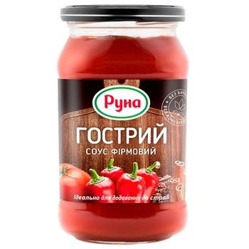 Соус томатный Руна Острый Фирменный 485г
