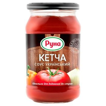 Runa Ketcha Ukrainian Tomato Sauce 485g - buy, prices for CityMarket - photo 1