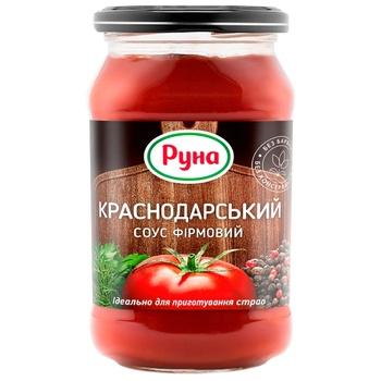 Соус томатний Руна Краснодарський фірмовий 485г - купити, ціни на Ашан - фото 1