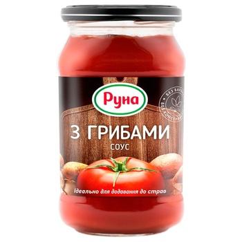 Соус Руна томатный с грибами 485г