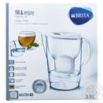 Фильтр для воды Brita Marella XL 3,5 л белый с картриджем Maxtra +