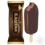 Мороженое Хладик Каштан Шоколадный пломбир шоколадный в кондитерской глазури 12% 75г - купить, цены на Таврия В - фото 2