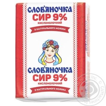 Творог Славяночка кисломолочный 9% 200г Украина - купить, цены на Восторг - фото 2