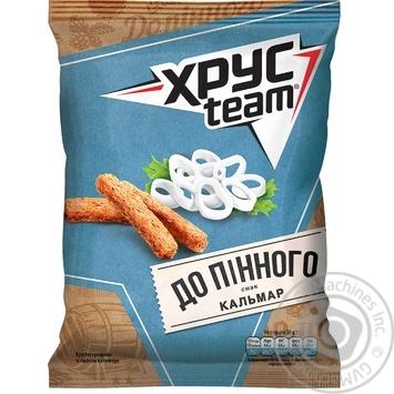 Сухарики ХрусTeam со вкусом кальмара 70г