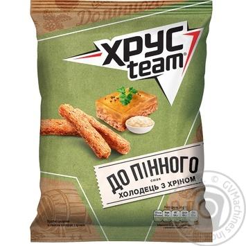 Сухарики ХрусTeam со вкусом холодца с хреном 70г