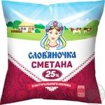 Сметана Слов'яночка 25% 380г