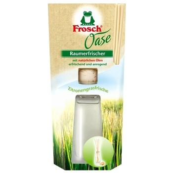 Освежитель воздуха Frosch Oase Лимонная трава 90мл - купить, цены на СитиМаркет - фото 1