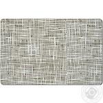 Zeller Abstraction Mat Under the Plate Grey Plastic 43.5x28.5cm