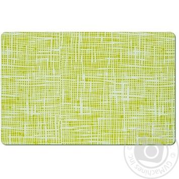 Коврик под тарелку Zeller Абстракция зеленый пластик 43.5х28.5см - купить, цены на МегаМаркет - фото 1