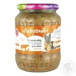 Вологий корм для собак Леопольд Готовий обід з телятиною, м'ясом качки і овочами 720г