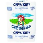 Cottage cheese Slovyanochka 9% 201g Ukraine