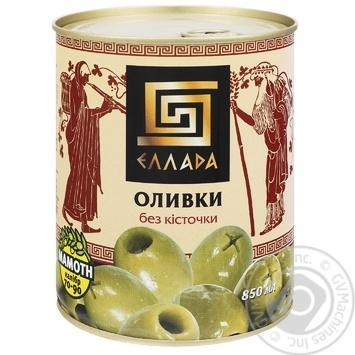Ellada green without bone olive 850ml - buy, prices for MegaMarket - image 1