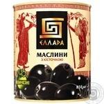 Маслины Ellada с косточкой черные 850мл - купить, цены на Novus - фото 2