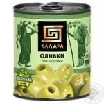 Ellada Pitted Green Olives 850ml