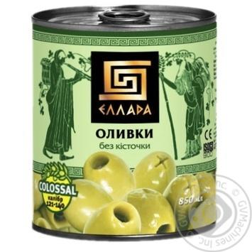 Оливки Еллада без кісточки 850мл - купити, ціни на МегаМаркет - фото 1