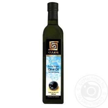 Масло Эллада Деликат оливковое экстра вирджен нерафинированное первого холодного отжима 500мл