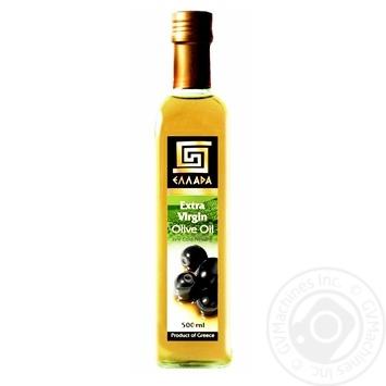 Масло Эллада оливковое экстра вирджин нерафинированное первого холодного отжима 500мл - купить, цены на Novus - фото 1