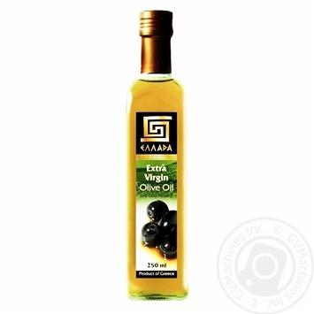 Масло Эллада оливковое экстра вирджин нерафинированное первого холодного отжима 250мл Греция - купить, цены на Novus - фото 1