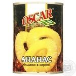 Ананаси Оскар кільцями в сиропі 565г - купити, ціни на Novus - фото 1