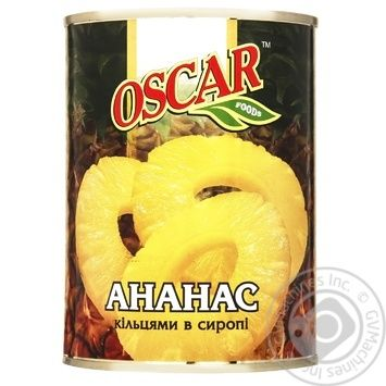 Pineapple slices Oscar in syrup 565g - buy, prices for Novus - image 1
