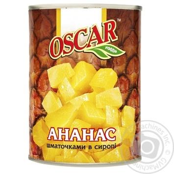 Pineapple chunks Oscar in syrup 565g - buy, prices for Furshet - image 1