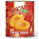 Персики Оскар половинки в легком сиропе 820г