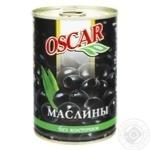 Маслини Оскар чорні без кісточки 432мл
