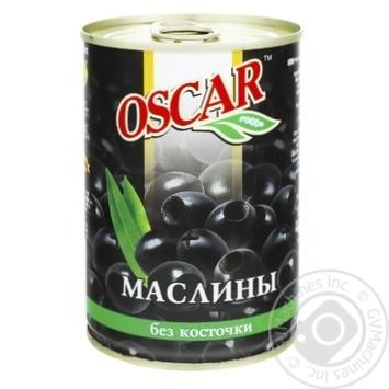 Маслины Оскар черные без косточки 432мл - купить, цены на Метро - фото 1