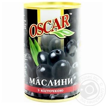 Маслины Оскар черные с косточкой 314мл - купить, цены на СитиМаркет - фото 1
