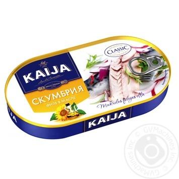 Скумбрія KAIJA філе в олії 170г - купити, ціни на МегаМаркет - фото 1
