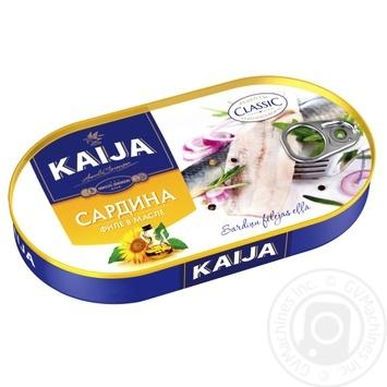 Сардины KAIJA филе в масле 170г - купить, цены на Novus - фото 1