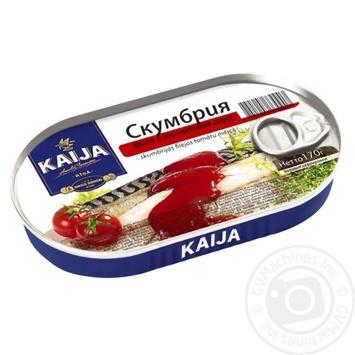 Скумбрія Kaija філе в томатному соусі 170г - купити, ціни на Novus - фото 1