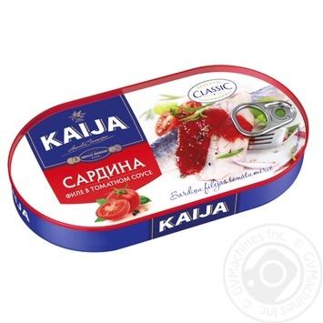 Сардина KAIJA філе в томатному соусі 170г - купити, ціни на Novus - фото 1