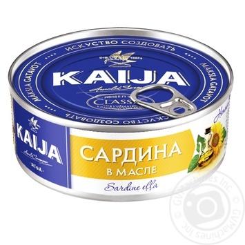 Сардина Кайджа атлантическая в масле 240г - купить, цены на Novus - фото 1