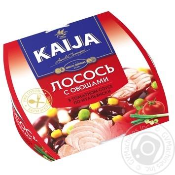 Лосось Kaija з овочами в томатному соусі 220г - купити, ціни на МегаМаркет - фото 1