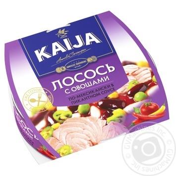 Лосось Kaija с овощами в пикантном соусе 220г - купить, цены на МегаМаркет - фото 1