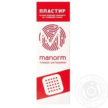 Пластырь Manorm на тканевой основе 1,9х7,2см 10шт - купить, цены на Фуршет - фото 1