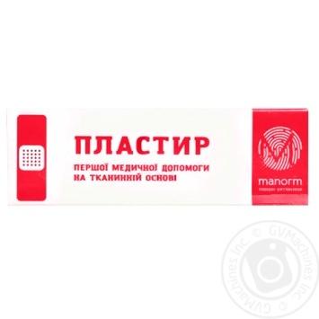 Пластырь Manorm на тканевой основе 1,9х7,2см 10шт - купить, цены на Novus - фото 2