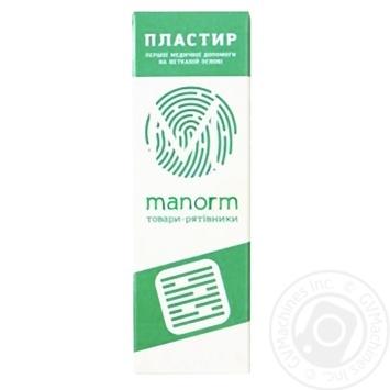 Пластир медичний Manorm на нетканій основі 1,9х7,2см 10шт - купити, ціни на Ашан - фото 1